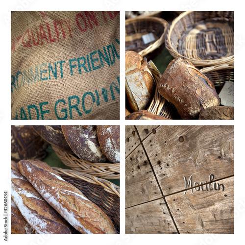 Pain, boulangerie, moulin, meunier, alimentation, céréales
