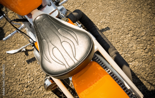 retro styled easy rider motorcycle detail