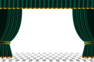 緑カーテンのステージ