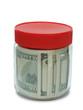 banknote in jar
