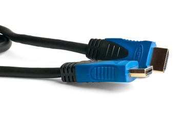blue HDMI connectors