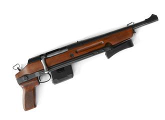 Shotgun with folding stock isolated on white