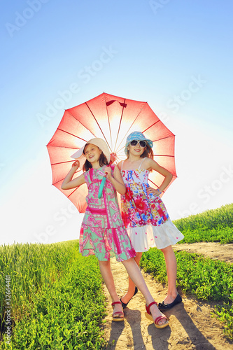 girls with a umbrella