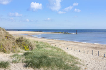 Caister on sea beach and sand dunes