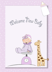 baby shower new girl announcement