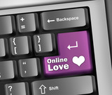 "Keyboard Illustration ""Online Love"""
