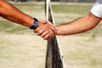 Final de un partido de tenis