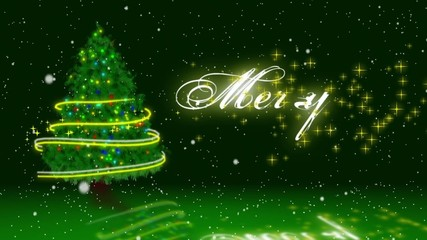 green chrismas with merry chrismas message