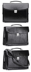 Black leather case isolated