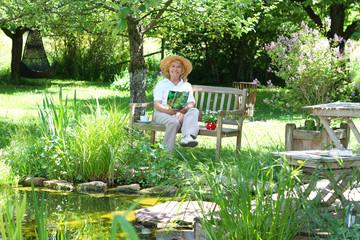 Gärtnerin ganz entspannt