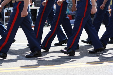 Marines marching in parade