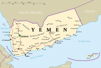 Jemen Landkarte