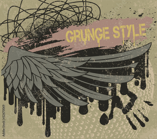 Wing grunge color