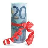 Eurogeschenk 20 Euro stehend