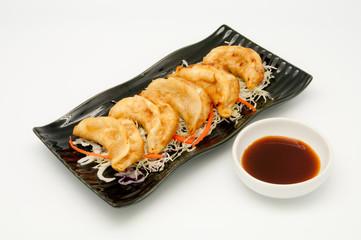 Fried Dumplings Chinese Style Cuisine