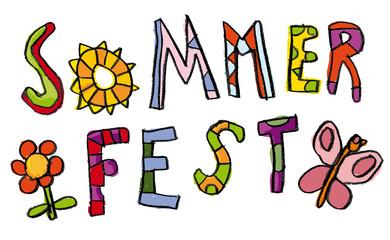 Kinder Schrift Sommerfest