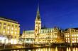 Rathaus Hamburg am Abend