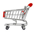 isolated shopping cart with clipping path