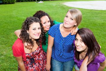 Group of Teenage Girls at Park