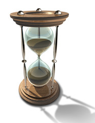 Hourglass symbol of time