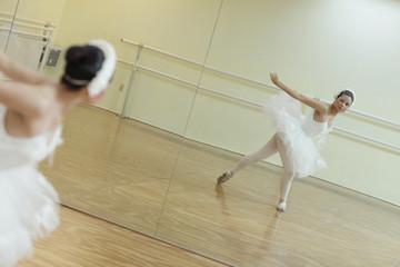 Ballerina in the mirror