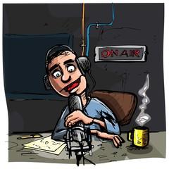Cartoon Talk radio presenter