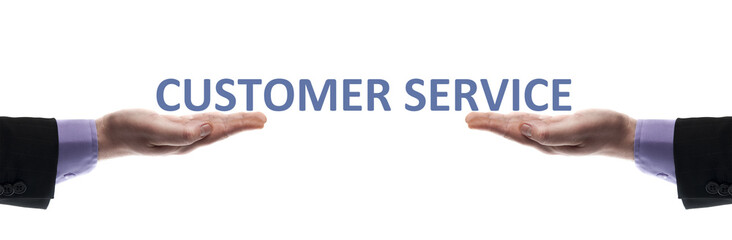 Customer service message