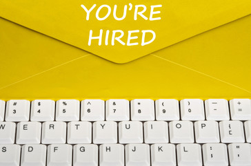 You're hired message