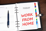 Work from home message