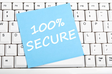 100% secure message
