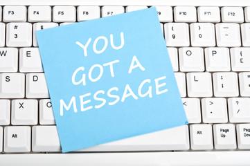 You got message message