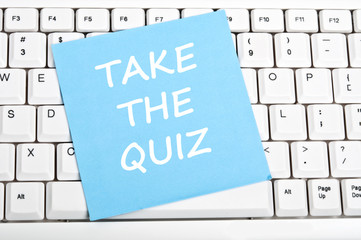 Take the quiz message