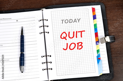 Quit job message