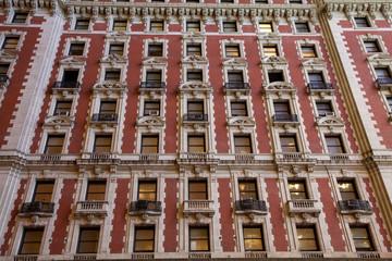 alte Hochhausfassade in New York