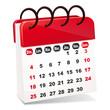 vecteur calendrier rouge