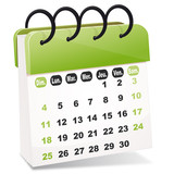 vecteur calendrier - 32678645