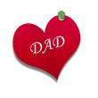Corazón de papel texto: DAD