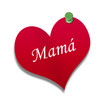 Corazón de papel texto: Mamá