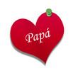 Corazón de papel texto: Papá