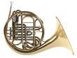 Leinwanddruck Bild - French horn