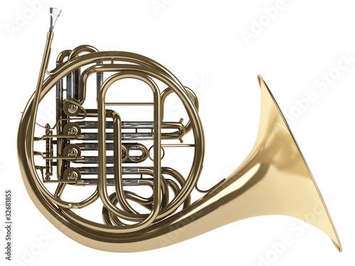Leinwanddruck Bild French horn