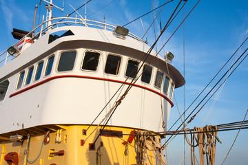 Wheelhouse of a Dutch iron fishing cutter