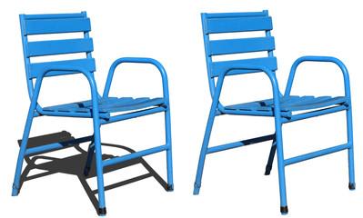 chaise bleu détourer