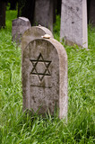 lone headstone on a jewish cemetary poster