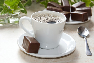Cup of americano coffee,