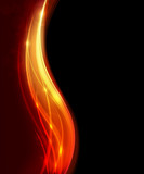 Fototapety Soft burning curves abstraction. EPS10