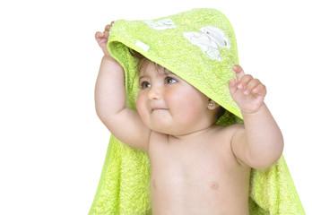 Bebé tras el baño.