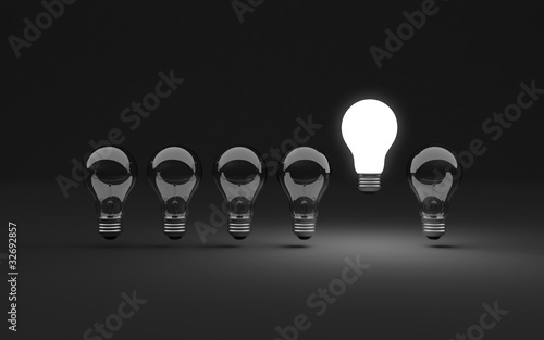 Six light bulbs
