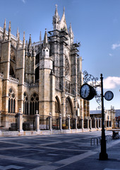Leon cathedral in north of Spain