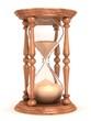 hourglass, sandglass, sand timer, sand clock